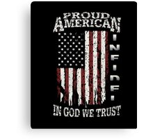 United States Proud shirt-July 4th T-Shirt independence Canvas Print