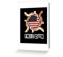 Unisex Fight for your Freedom USA T-shirt Greeting Card