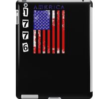 American Flag Women's USA Patriotic T-Shirt 1776 iPad Case/Skin