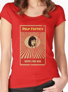 Pulp Faction - Mia Women's Fitted Scoop T-Shirt