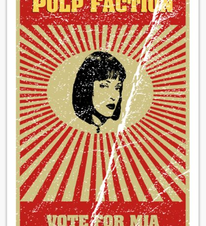 Pulp Faction - Mia Sticker