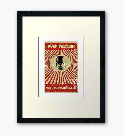 Pulp Faction - Marsellus Framed Print
