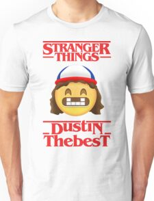 Stranger Things Poster Dustin Emoji The Best Unisex T-Shirt
