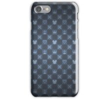 Kingdom Hearts pattern (blue) iPhone Case/Skin