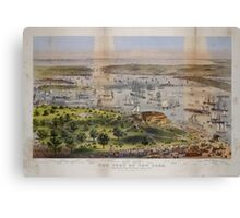 593 The Port of New York bird's eye view from the Battery looking south Canvas Print