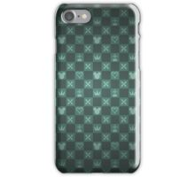 Kingdom Hearts pattern (green) iPhone Case/Skin