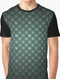Kingdom Hearts pattern (green) Graphic T-Shirt