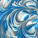Nickel Blue Abstract by John Edwards