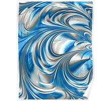 Nickel Blue Abstract Poster