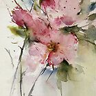 watercolor flowers from Arcen by annemiek groenhout