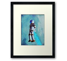 Space Jumping Framed Print