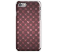 Kingdom Hearts pattern (red) iPhone Case/Skin