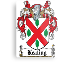 Keating Coat of Arms (Irish) Metal Print
