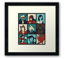 Final Fantasy VII - Characters Framed Print