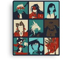 Final Fantasy VII - Characters Canvas Print