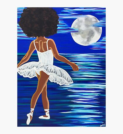 """Walking on Water"" Limited Edition Art Print - black art - black girl magic - Afro centric - African American Art  Photographic Print"