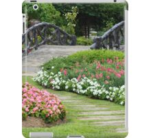 Floral Garden with Bridge and Path iPad Case/Skin