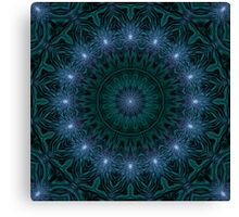 Light Transition Matrix Mandala Canvas Print