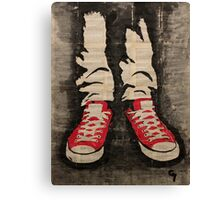 A pair of red sneakers. Canvas Print