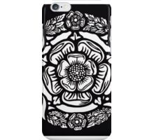 Historic Tudor Rose Stained Glass Paper cut design iPhone Case/Skin