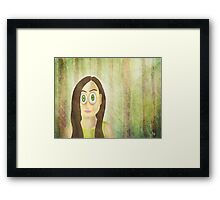 Woods Series - Girl Portrait 1 Framed Print