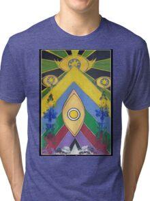 .A Pleasant Arrangement of Icons and Colours #1. Tri-blend T-Shirt