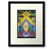 .A Pleasant Arrangement of Icons and Colours #1. Framed Print