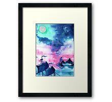 Neverland Sky Framed Print