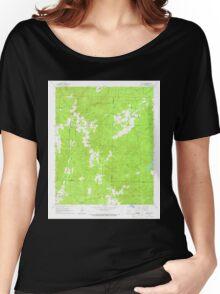 USGS TOPO Map Arkansas AR Willow 259880 1965 24000 Women's Relaxed Fit T-Shirt