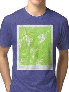 USGS TOPO Map Arkansas AR Willow 259880 1965 24000 Tri-blend T-Shirt