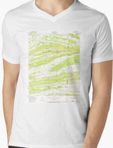 USGS TOPO Map Arkansas AR Barber 257928 1947 24000 Mens V-Neck T-Shirt