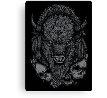 Dark Bison Canvas Print
