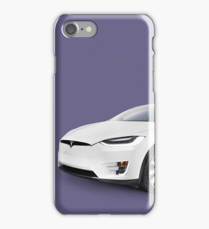 Tesla Model X luxury SUV electric car art photo print iPhone Case/Skin