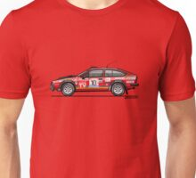 Alfetta GTV Turbodelta Jolly Club FIA Group 4 1980 Sanremo Rally Unisex T-Shirt