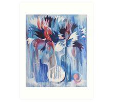 Blue Still Life Art Print