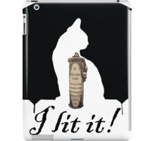 Black Flame Candle with Cat iPad Case/Skin