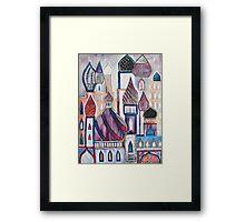Eastern City Landscape Framed Print