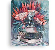 Futuristic Flowers Canvas Print