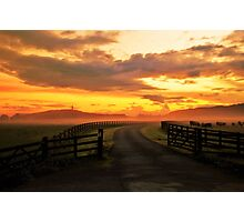 Sunset from Gogar Loan Photographic Print