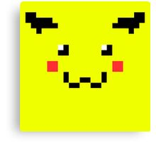 Pikachu Pixel Art Pokemon Canvas Print
