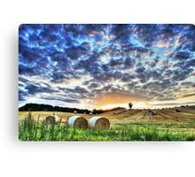 Old Linslade Sunset - 20th Aug 2014 Canvas Print