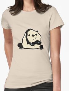 panda bear Womens Fitted T-Shirt