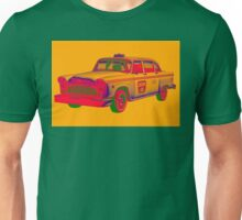 Checker Taxi Cab Pop Art Unisex T-Shirt