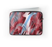 Red and blue smoke Laptop Sleeve