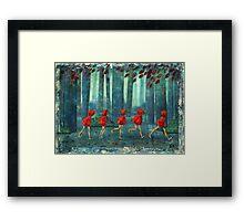 5 lil reds 1 Framed Print