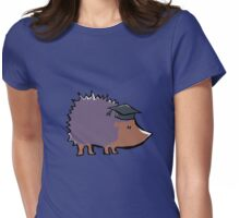 educated hedgehog Womens Fitted T-Shirt