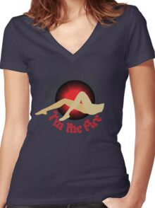 I AM THE FIRE Women's Fitted V-Neck T-Shirt