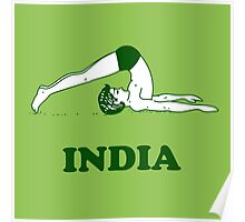 India - Halasana Yoga T-shirt Poster