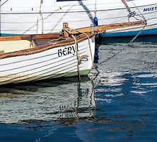 Skiffs At Lyme Regis Harbour by Susie Peek