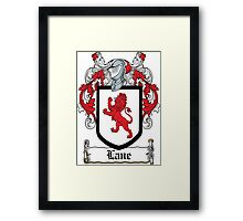 Lane Coat of Arms I (Roscommon, Ireland) Framed Print